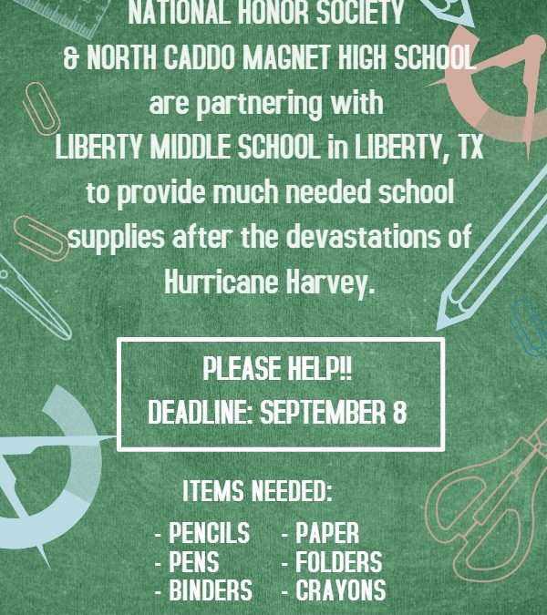 North Caddo NHS Looks to Aid Others After Harvey
