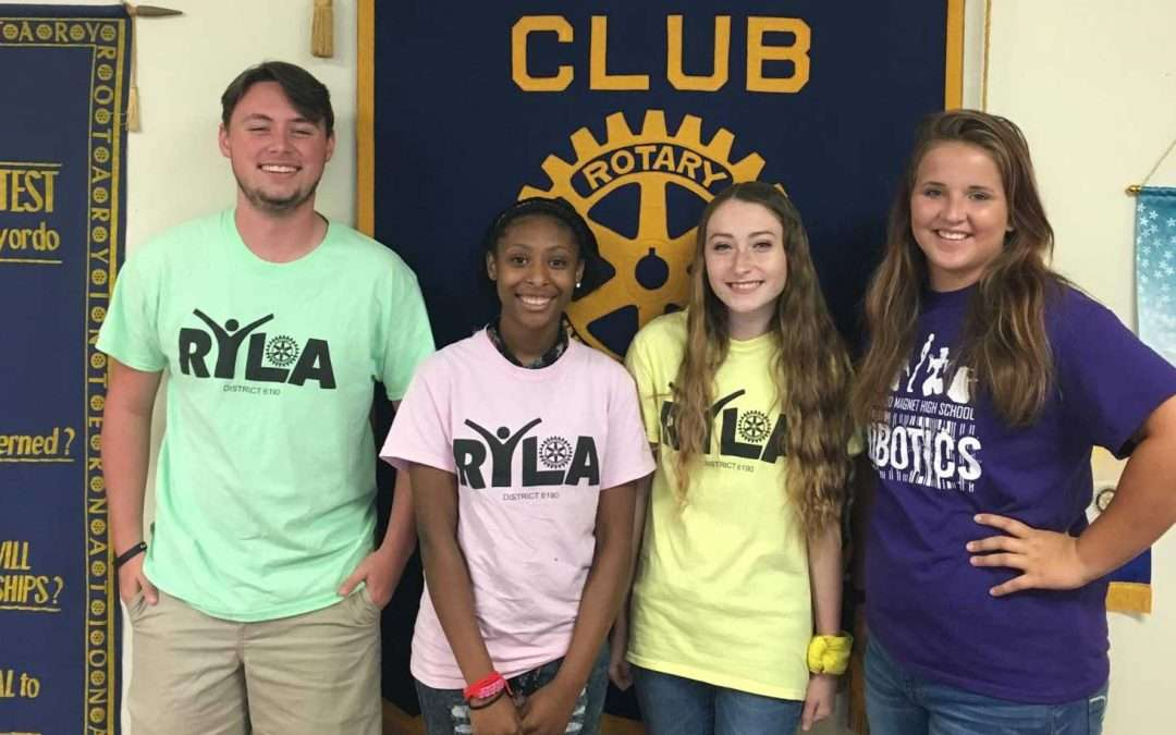 NCHS Students Win at Camp RYLA Rotary Youth Leadership Awards