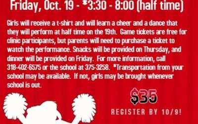 NCHS to Host Cheer Clinic